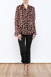 Shoptiques Product: Flowing Florals Tie Blouse - Front full body