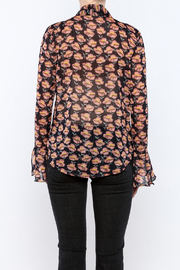 Shoptiques Product: Flowing Florals Tie Blouse - Back cropped