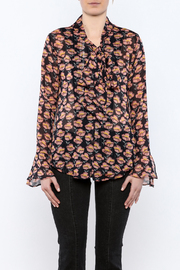 Shoptiques Product: Flowing Florals Tie Blouse - Side cropped