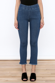 Pinkyotto Frayed Denim Jeggings - Side cropped