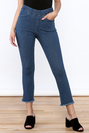 Pinkyotto Frayed Denim Jeggings - Front full body