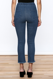 Pinkyotto Frayed Denim Jeggings - Back cropped
