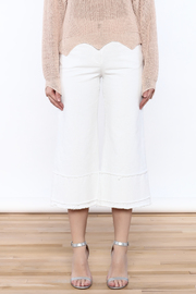 Pinkyotto Frayed Hem Wide Leg Pant - Side cropped