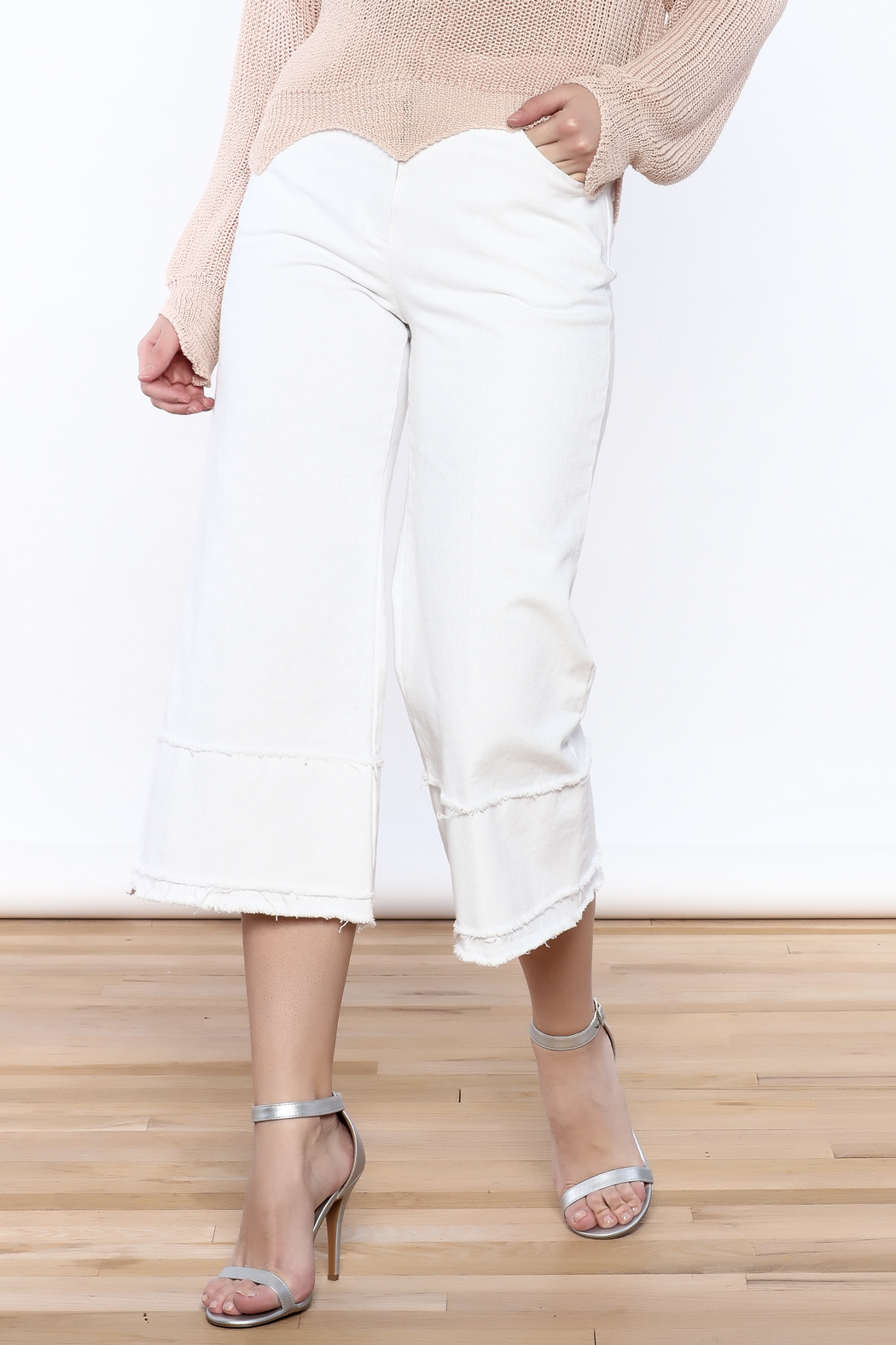 Pinkyotto Frayed Hem Wide Leg Pant - Main Image