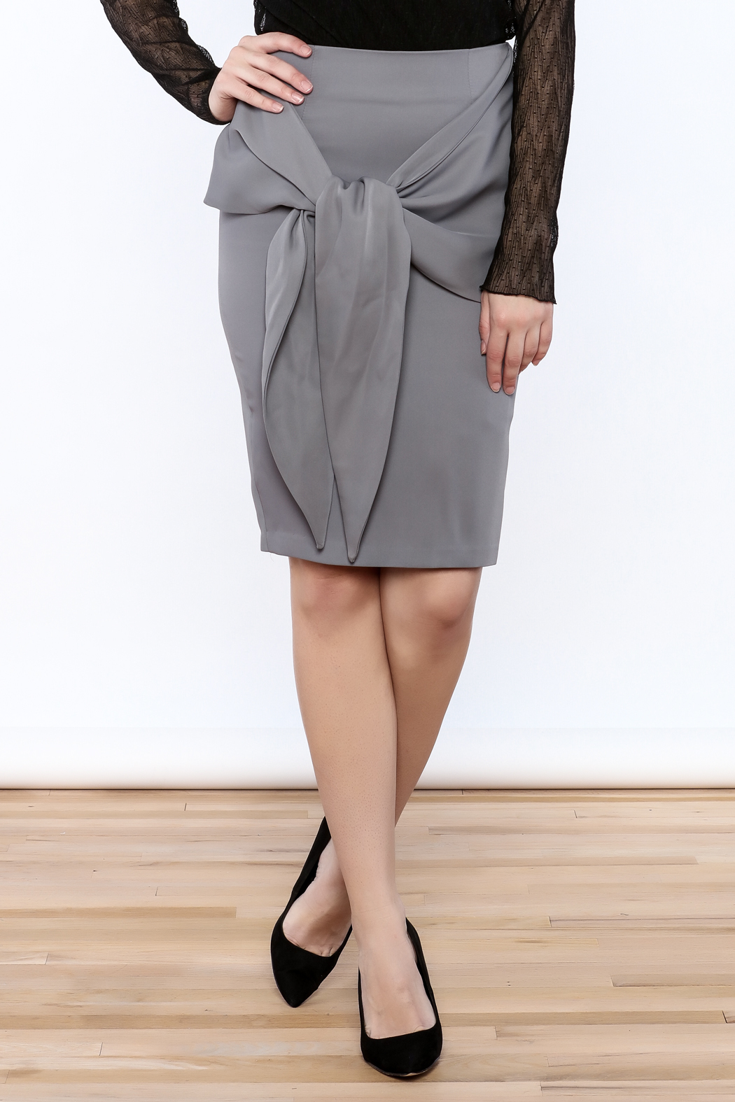 Pinkyotto Front Knot Skirt - Front Cropped Image