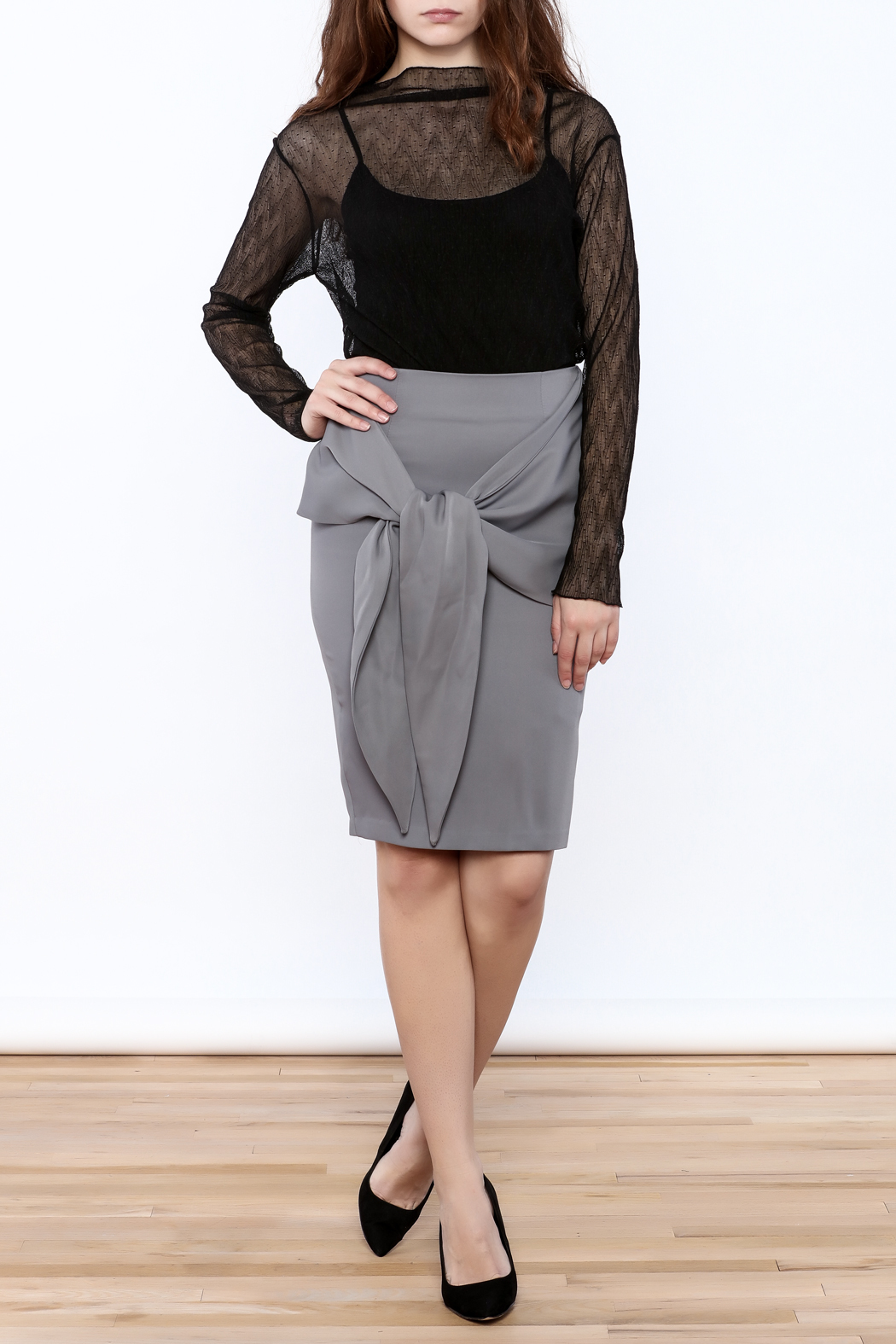 Pinkyotto Front Knot Skirt - Front Full Image