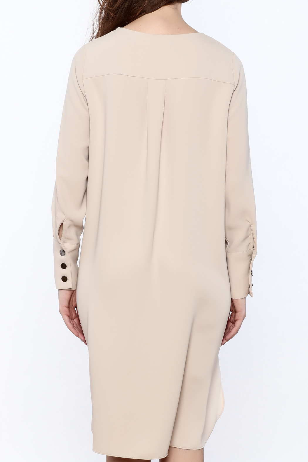 Pinkyotto Zip-Up Knee Dress - Back Cropped Image