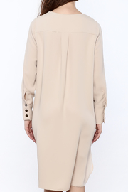 Shoptiques Product: Zip-Up Knee Dress - Back cropped