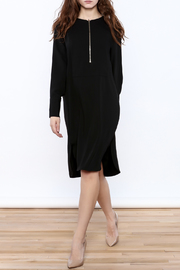 Pinkyotto Zip-Up Knee Dress - Front full body