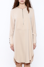 Shoptiques Product: Zip-Up Knee Dress - Side cropped