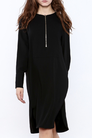 Shoptiques Product: Zip-Up Knee Dress - Front cropped