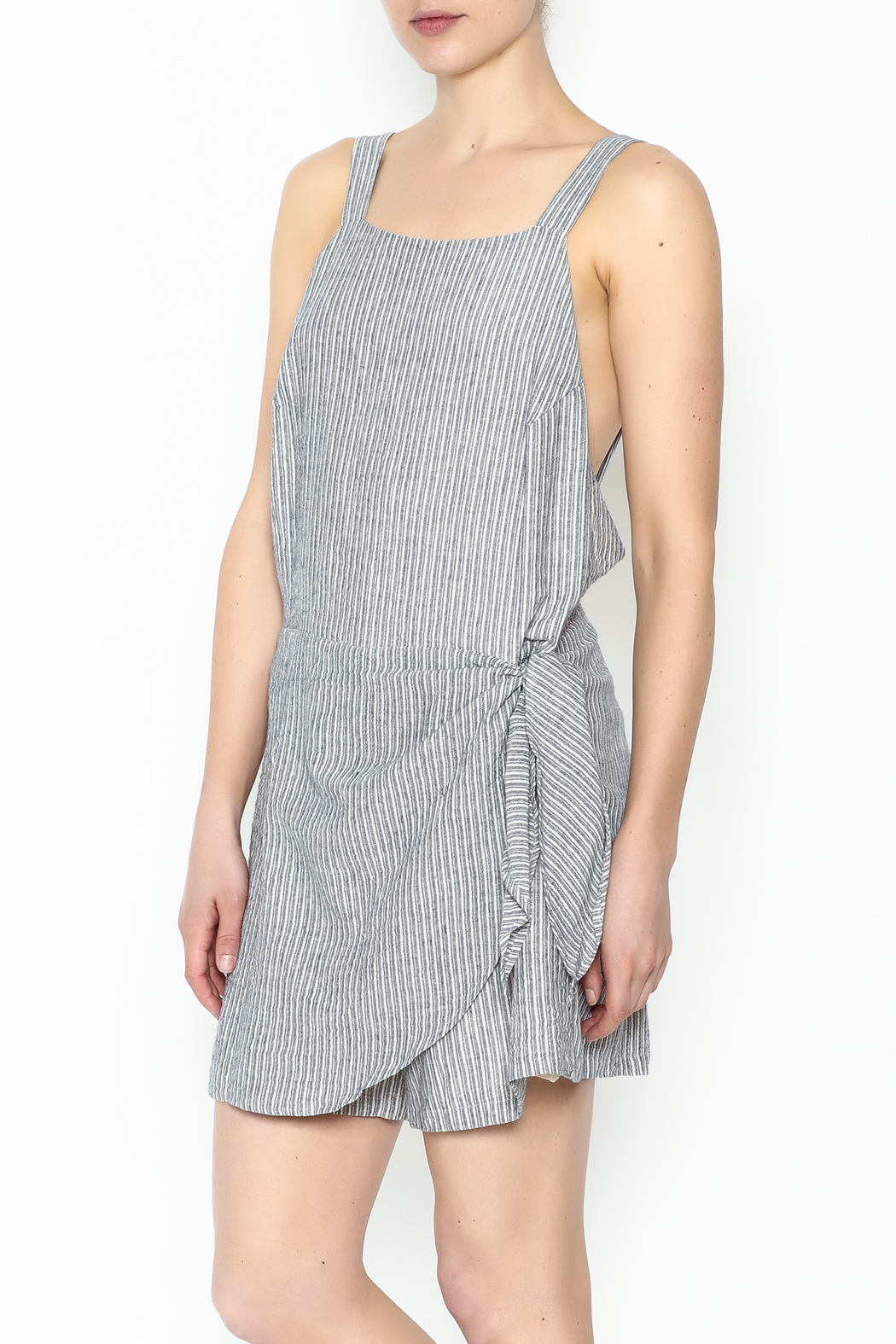 Pinkyotto Front Tie Skort Romper - Front Cropped Image