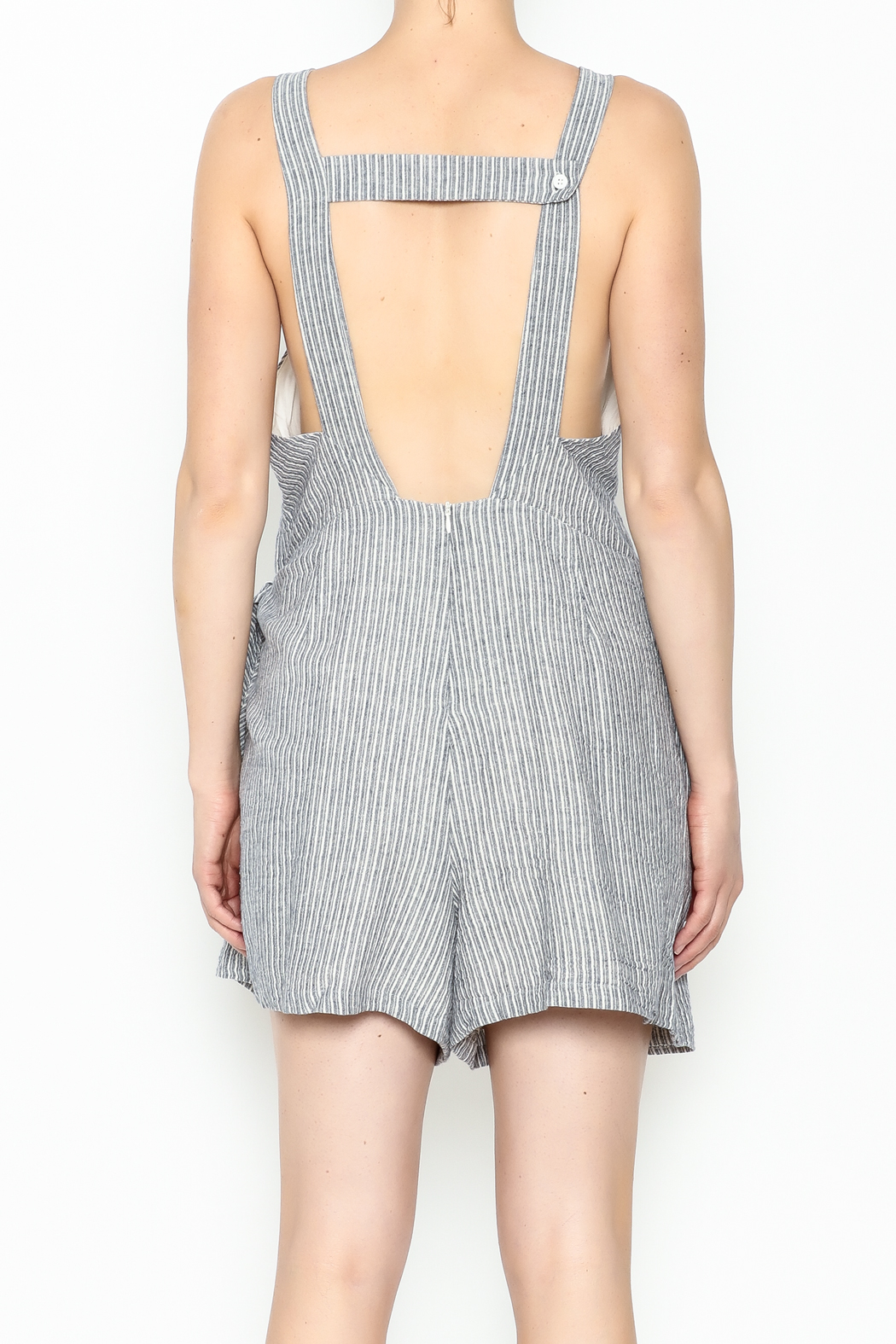 Pinkyotto Front Tie Skort Romper - Back Cropped Image