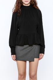 Pinkyotto High Collar Peplum Blouse - Side cropped