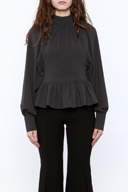 Shoptiques Product: High Collar Peplum Blouse - Side cropped
