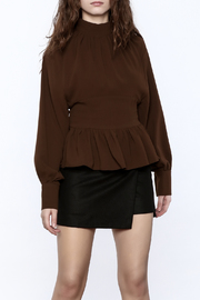 Shoptiques Product: High Collar Peplum Blouse