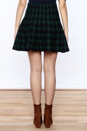 Shoptiques Product: Houndstooth Large Print Skirt - Back cropped
