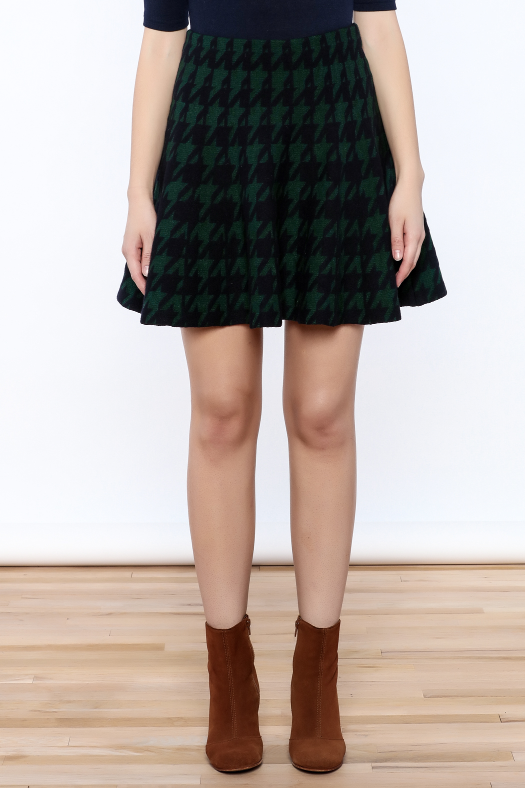 Pinkyotto Houndstooth Large Print Skirt - Side Cropped Image