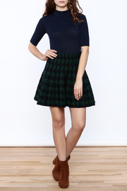 Pinkyotto Houndstooth Large Print Skirt - Front full body