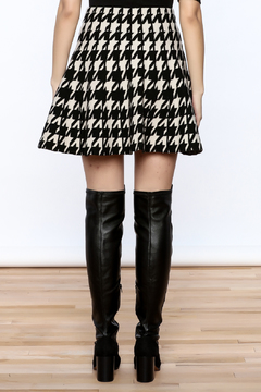 Shoptiques Product: Houndstooth Large Print Skirt