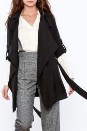 Pinkyotto Black Loose Trench Coat - Front full body