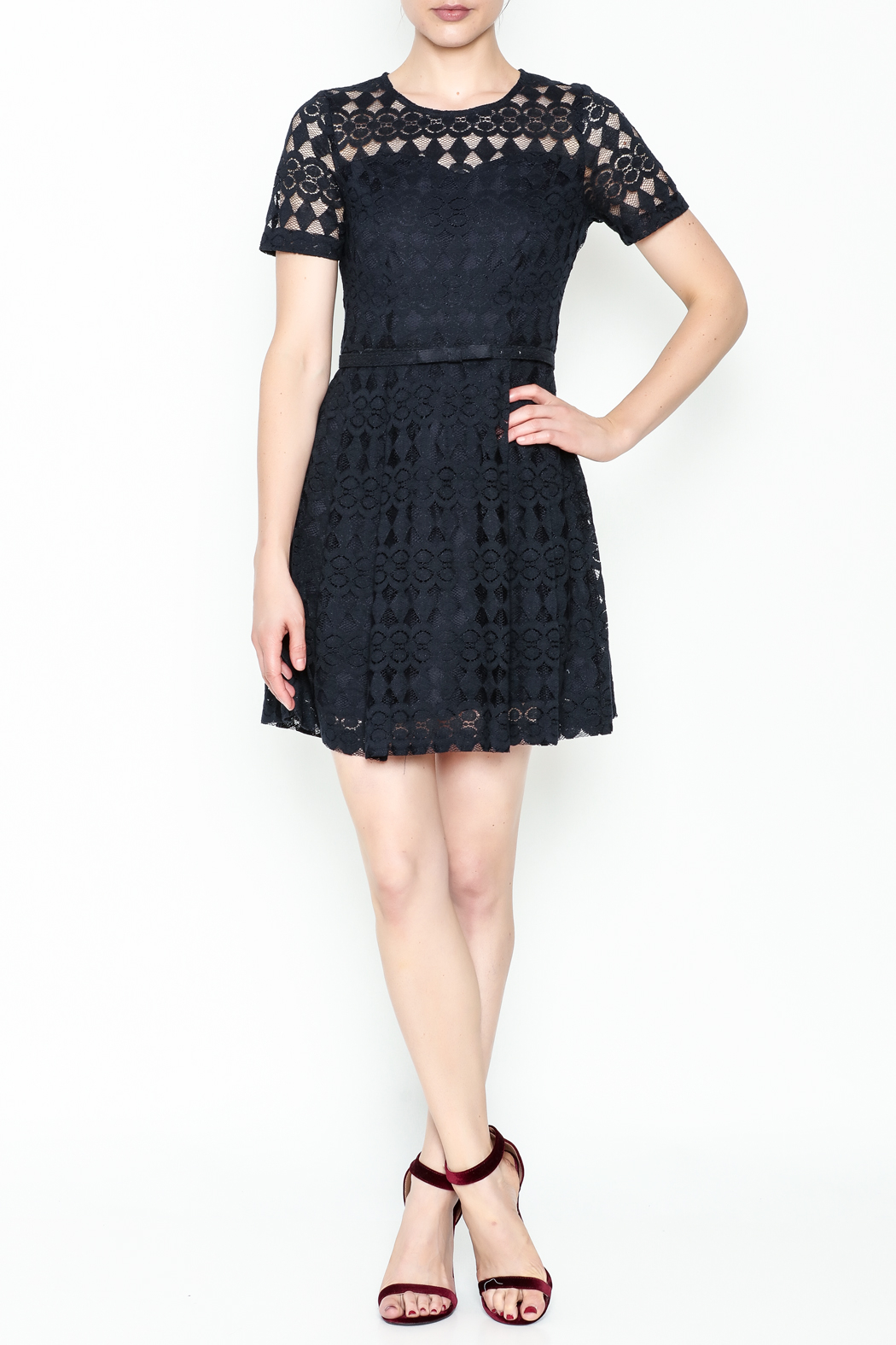 Pinkyotto Just Precious Lace Dress - Side Cropped Image