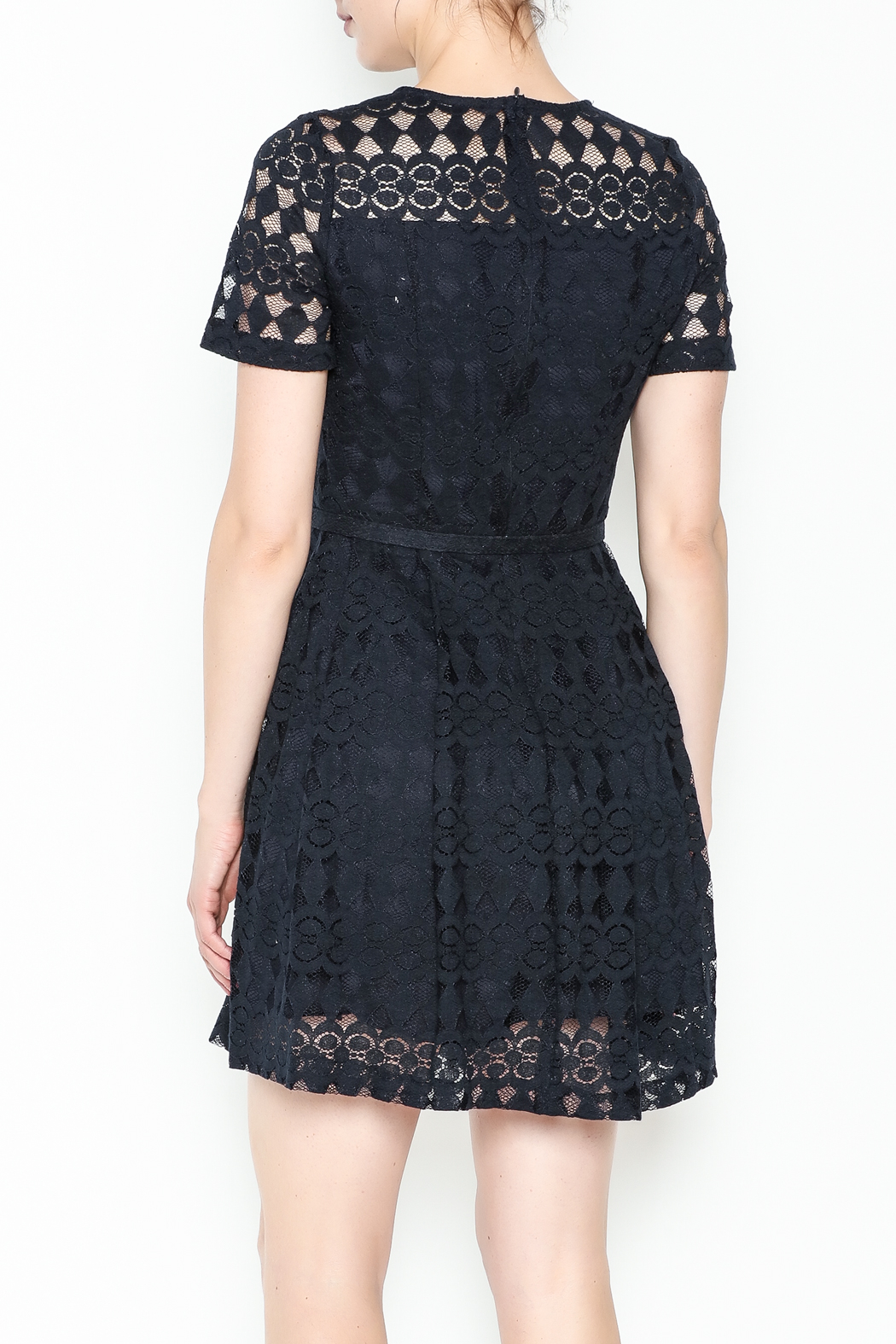 Pinkyotto Just Precious Lace Dress - Back Cropped Image