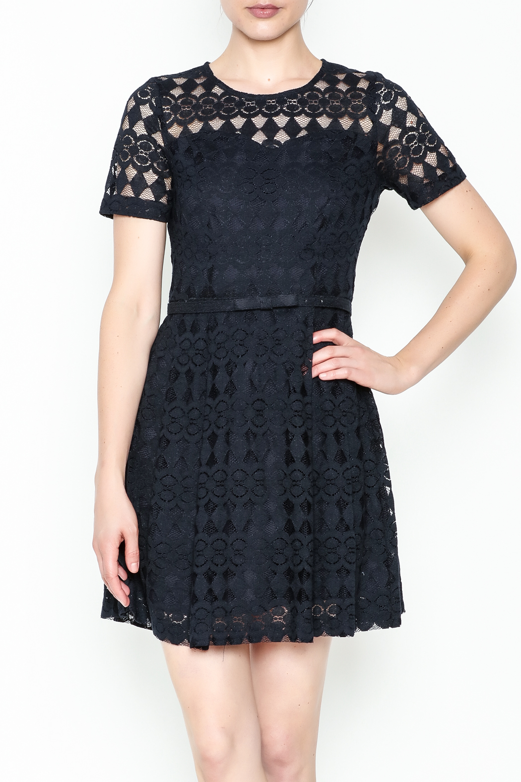 Pinkyotto Just Precious Lace Dress - Front Cropped Image