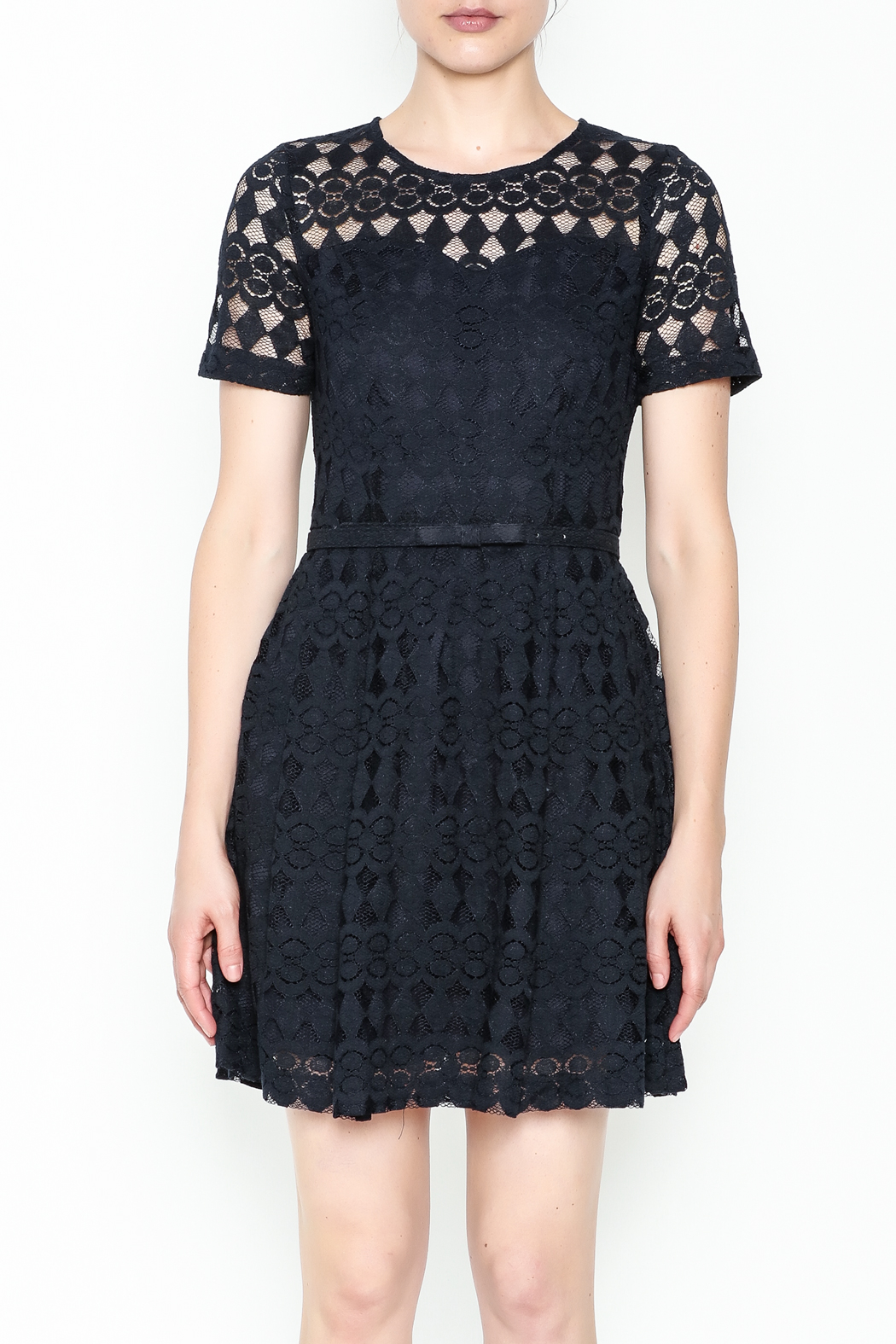 Pinkyotto Just Precious Lace Dress - Front Full Image