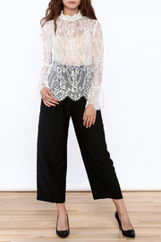 Pinkyotto Sheer Lace Top - Side cropped