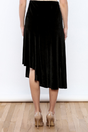 Shoptiques Product: Let's Tango Velvet Skirt - Back cropped