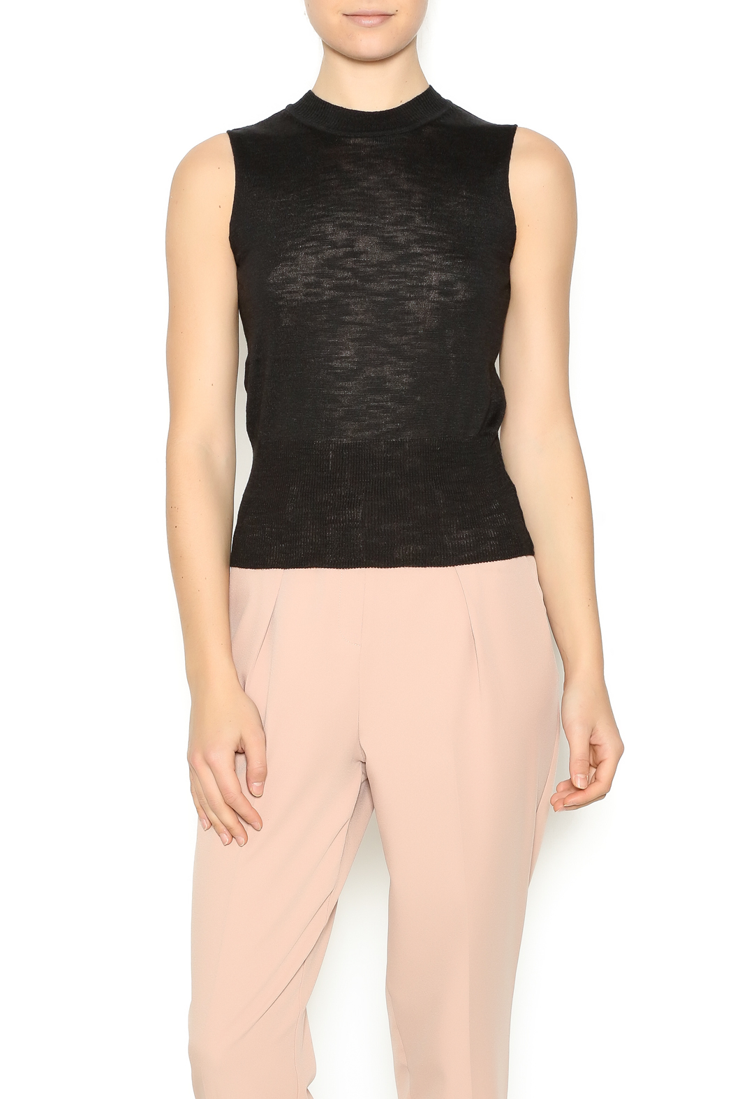 Pinkyotto mock turtle sleeveless sweater from nolita for Sleeveless mock turtleneck shirts