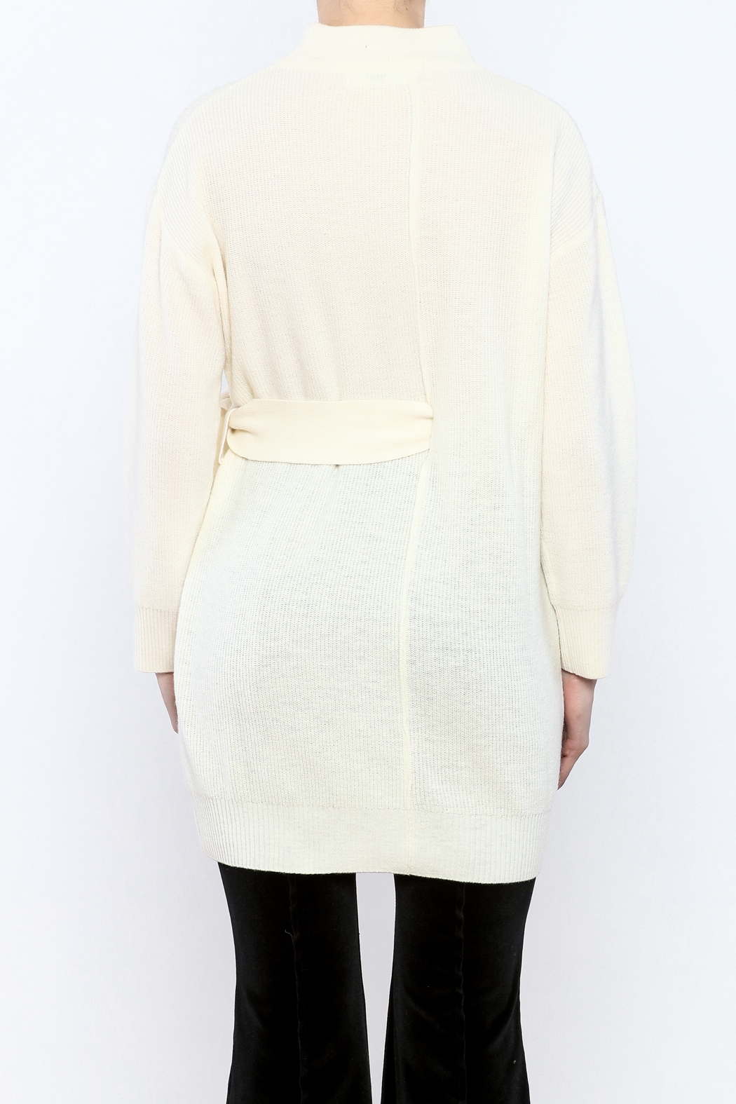 Pinkyotto Mod Belted Sweater - Back Cropped Image