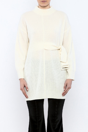 Pinkyotto Mod Belted Sweater - Side cropped