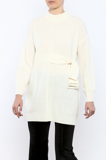Shoptiques Product: Mod Belted Sweater - main