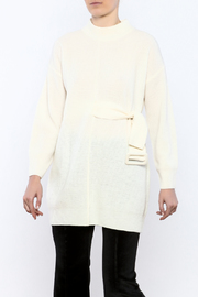 Pinkyotto Mod Belted Sweater - Front cropped