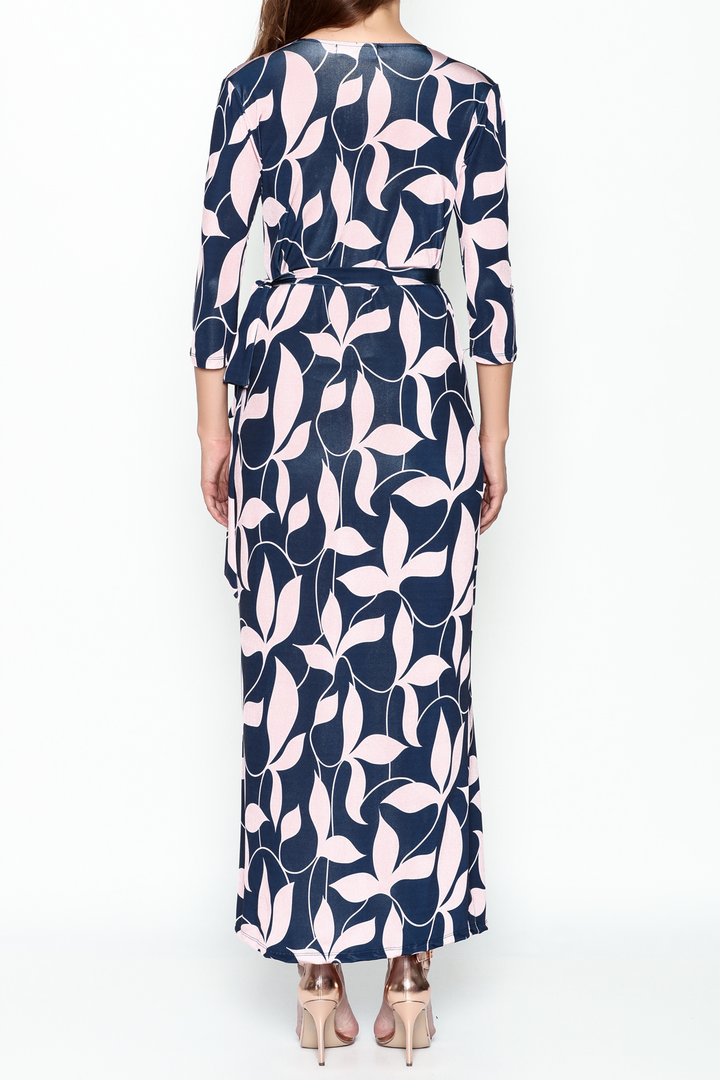 Pinkyotto Mod Floral Wrap Dress - Back Cropped Image