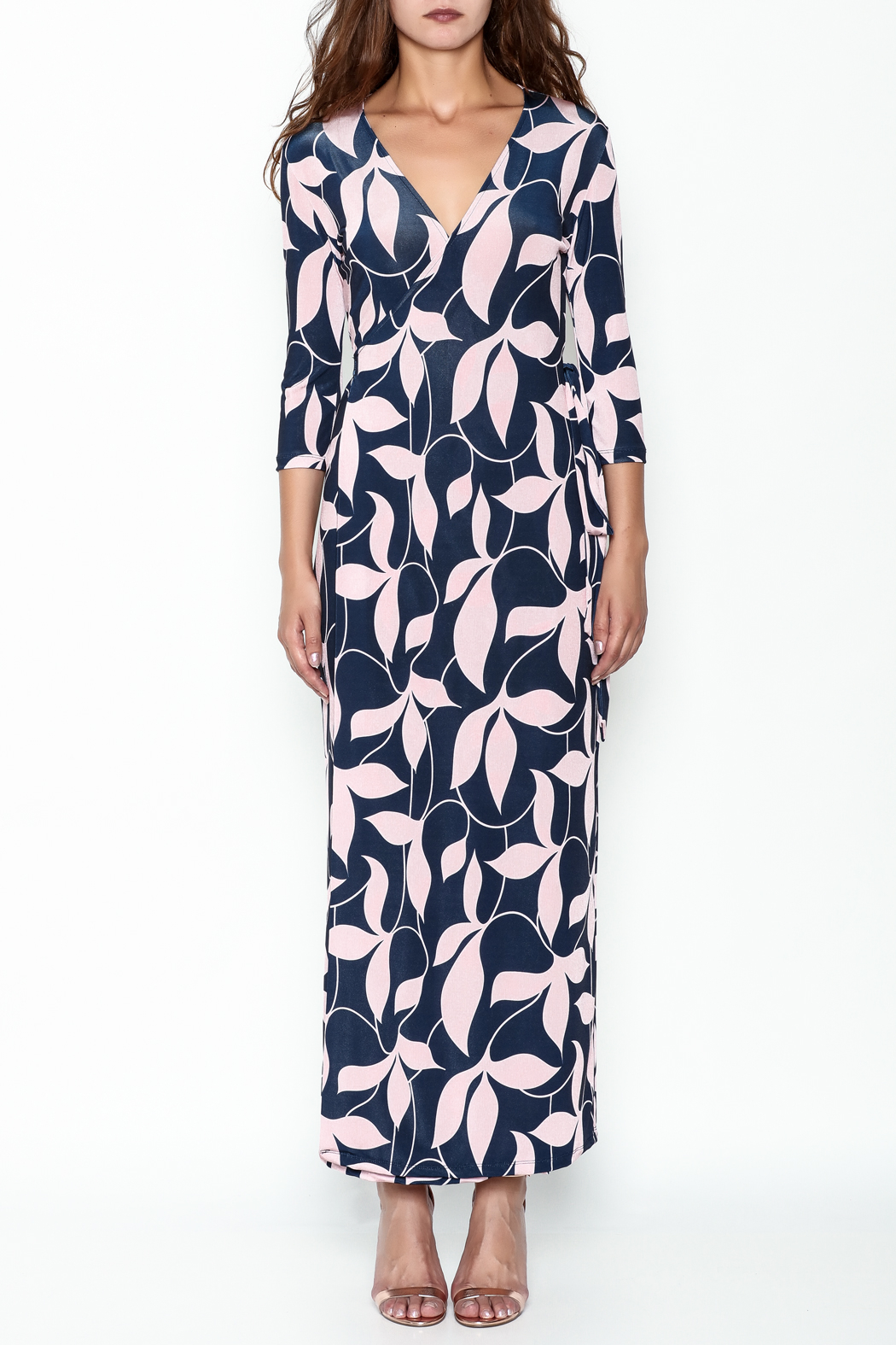 Pinkyotto Mod Floral Wrap Dress - Front Full Image