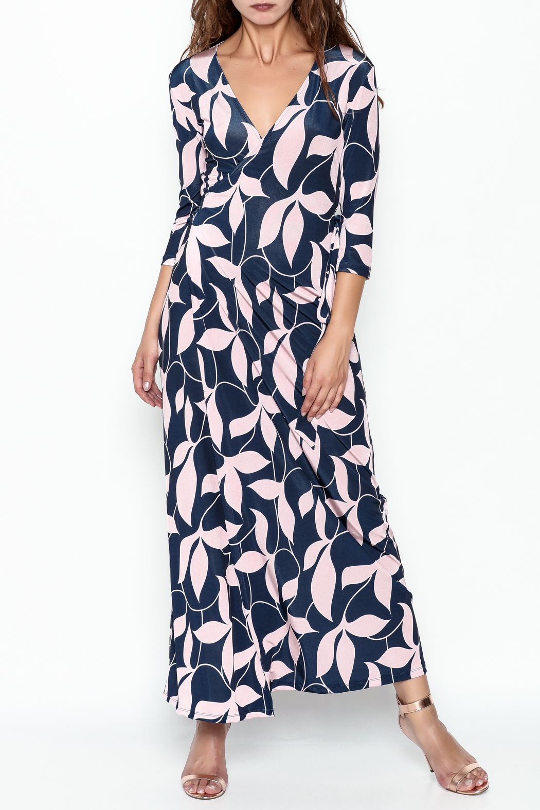 Pinkyotto Mod Floral Wrap Dress - Front Cropped Image