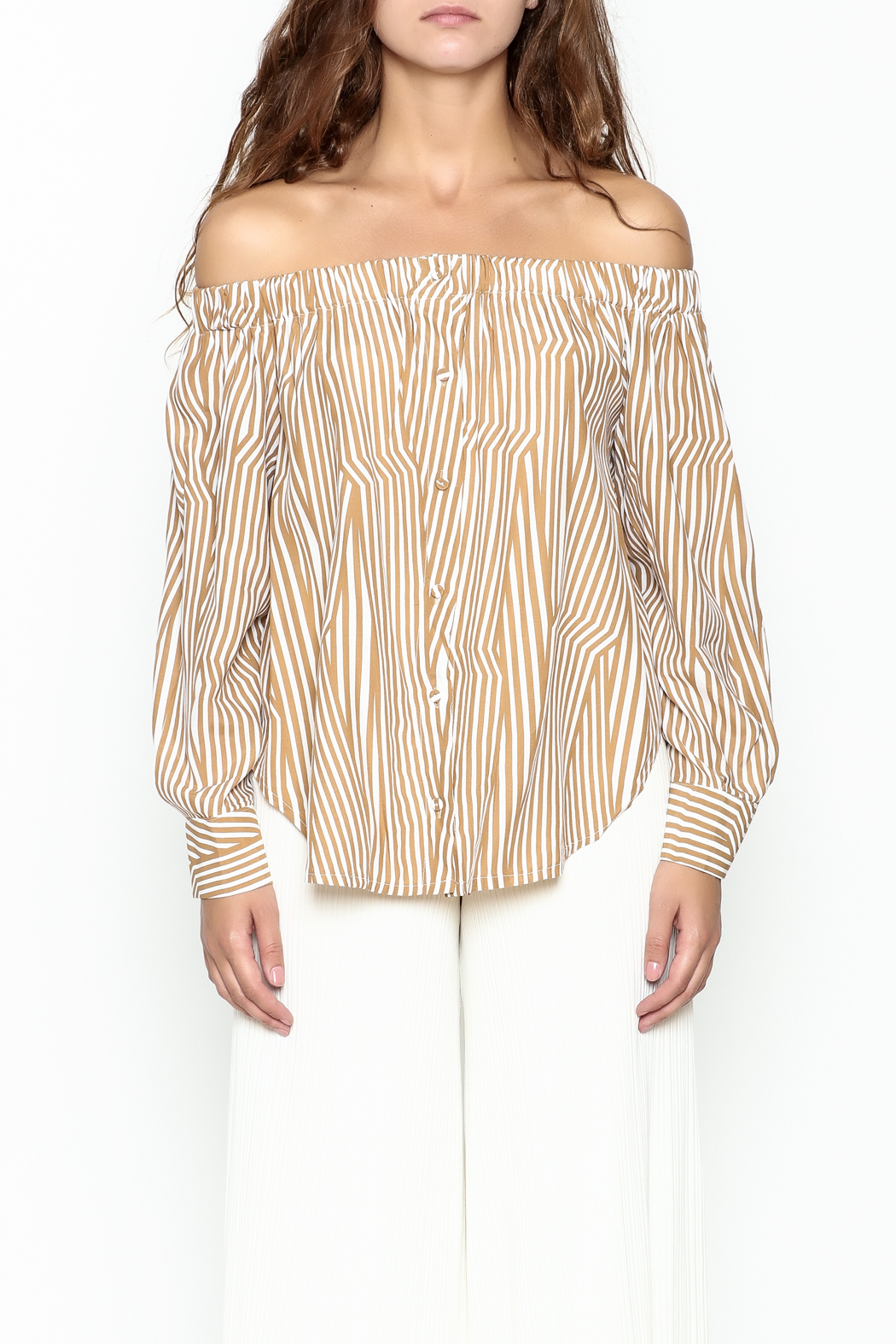 Pinkyotto Off Shoulder Top - Front Full Image