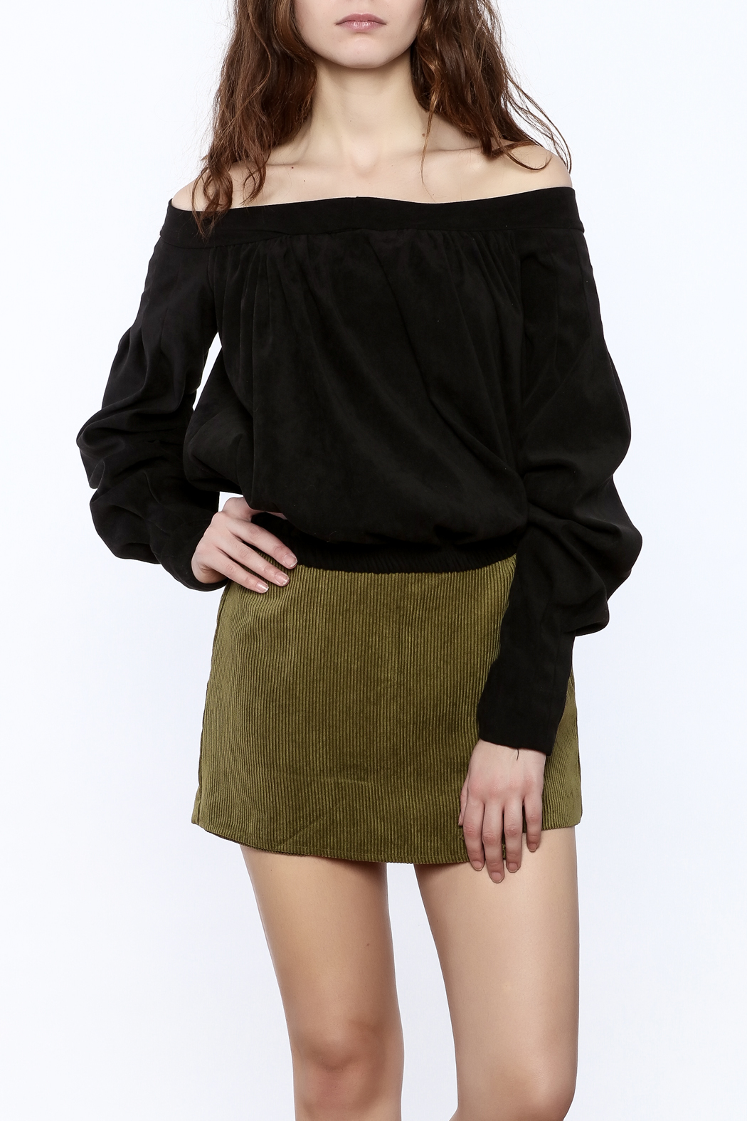Pinkyotto Off The Shoulder Long Sleeve Top - Main Image