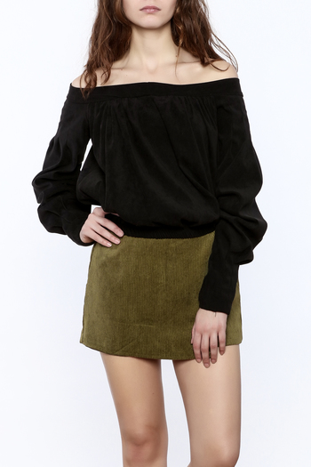 Shoptiques Product: Off The Shoulder Long Sleeve Top - main
