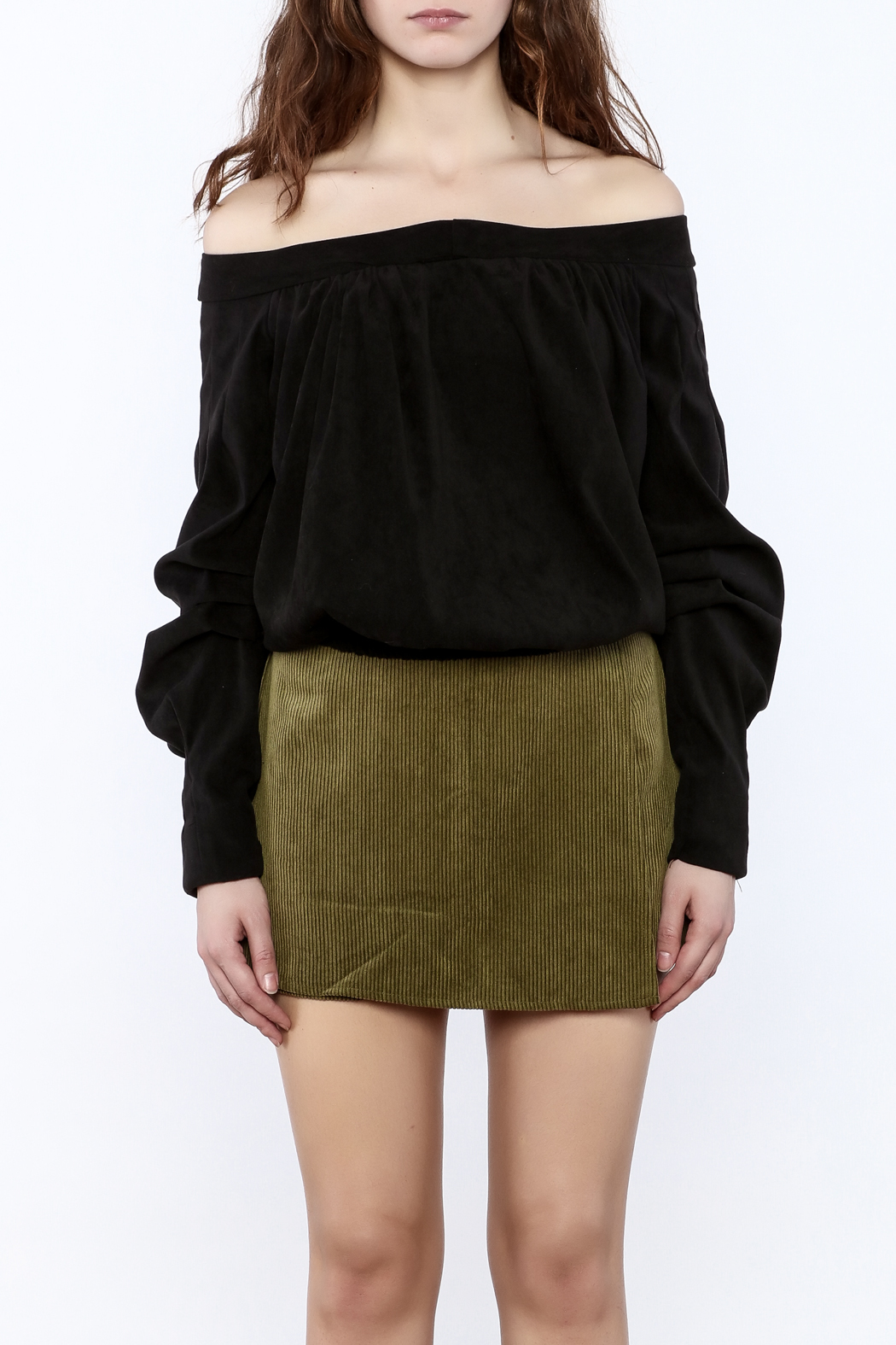 Pinkyotto Off The Shoulder Long Sleeve Top - Side Cropped Image