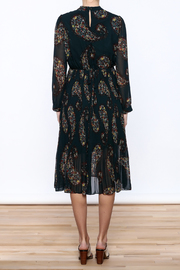 Shoptiques Product: Paisley Print Pleated Dress - Back cropped