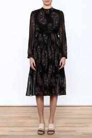 Pinkyotto Paisley Print Pleated Dress - Front cropped