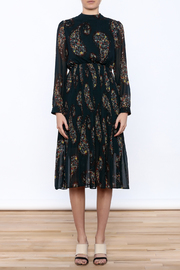 Shoptiques Product: Paisley Print Pleated Dress - Side cropped