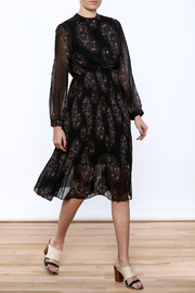 Shoptiques Product: Paisley Print Pleated Dress - Front full body
