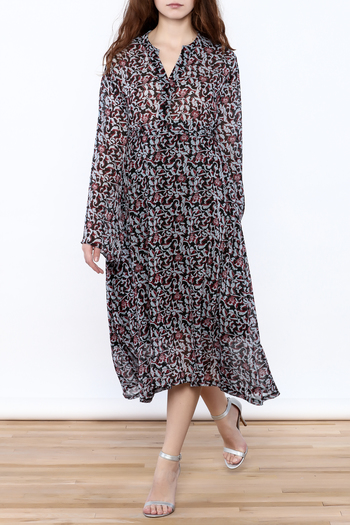 Pinkyotto Parisian Garden Midi Dress - Main Image