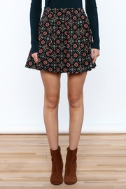 Shoptiques Product: Pattern Me Fall Skirt - Side cropped