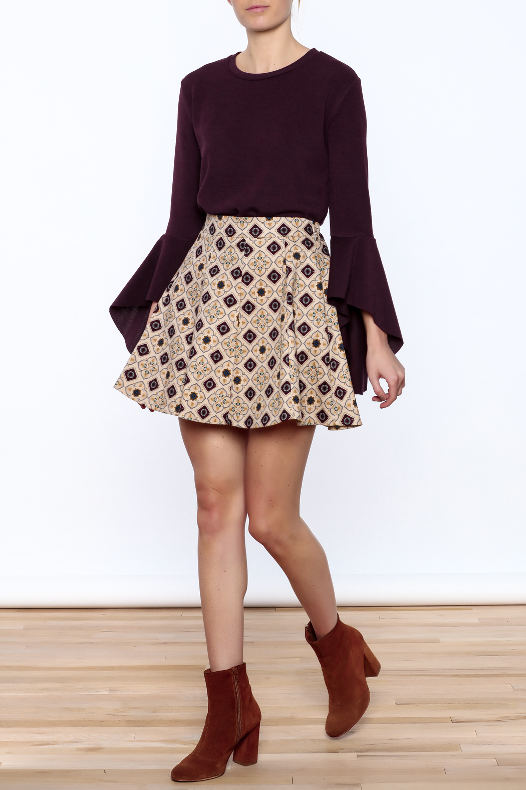 Pinkyotto Pattern Me Fall Skirt - Front Full Image